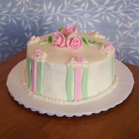 Rose Cake Made this for a potluck at work, just playing around with fondant.
