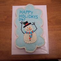 Snowman Cupcake Cake My first cupcake cake! I took this to a holiday potluck at work. The cupcakes are french vanilla filled with lemon buttercream.