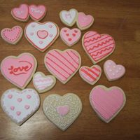 Valentine's Day Cookies NFSC with royal icing