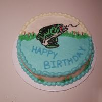 Fishing Birthday Cake Fishing theme birthday with FBCT, inspired by bethallan's and others like it.