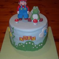 Mario & Yoshi My son loves super mario brothers so made this for his 5th birthday