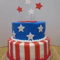 Patriotic American Birthday Cake