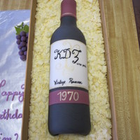Wine Bottle Cake