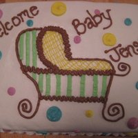 Baby Shower Cake All buttercream. Hand drawn carriage.