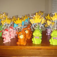 Party Favor Bouquets These are the cookie bouquets I made for my son's first birthday party as party favors for each guest. The containers are actually...