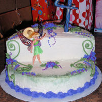Tinkerbell 4Th Birthday Cake Tinkerbell cake with buttercream