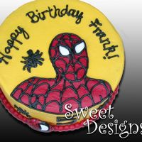 Spider Man What can I say? It's Spider Man!!! 8 inch round. These are always fun!