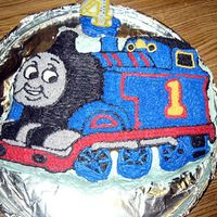 Thomas, My First Cake With Theis Style Decorating!   Wilton Pan, Currently discontinued I believe!