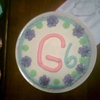 Gracie 6 Years Old Cake  I made this cake with left over batter from the cupcakes and icing to have a small cake to celebrate her birthday with for just the...