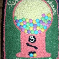 Bubble Gum Machine...  THis Bubble gum machine is an easy to personalize cake. You can choose Cost of gumballs by age of person, and I used the colors from the...