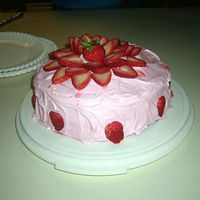 Very Strawberry   EVERYTHING was strawberry, The cake mix, the frosting, the filling and the accents!