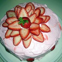 Very Strawberry Top View   Top of cake..