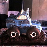 3D Monster Truck Cake  This is the first three dimesional cake I have ever made...although it wasn't as good as I would have liked, it wasn't too bad...