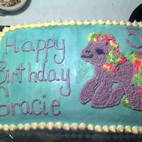 My Little Pony   Double layer, Funfetti and chocolate.