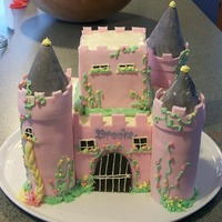 Castle Cake  Yellow butter cake, French buttercream. My first castle cake and one of the first I've done with fondant. Definitely an art form I...