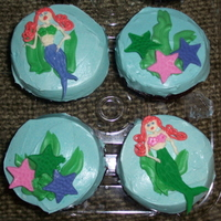 Little Mermaid Theme Party   French meringue buttercream and fondant accents