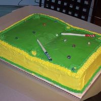 Pool Table well heres a cake i wished i used a rolled type icing anything and everything that coud go wrong for me did. but i guess it could have...