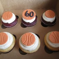 Basketball Cupcakes Cupcakes to celebrate a 60th Birthday
