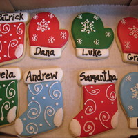Personalized Christmas Cookies Made these for a client who has 5 boys. They were all going to be home for the holidays (some with significant others) and I thought it...