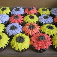 Fall Floral Cupcakes