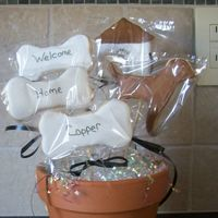 New Puppy Gift   Cookie bouquet for friend who just got a puppy. NFSC w/antonia's icing