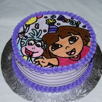 Another Dora Cake this was a cake i made just for fun. i wanted to give fbcts a try. it turned out good, not what i expected but now i know for next time. be...