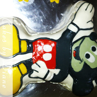 Mickey Mouse Vanilla cake with vanilla buttercream