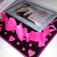 Chuck Bass Cake Gossip Girl themed cake with fondant framed picture of Chuck Bass