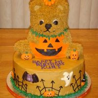 1St Halloween Birthday Bear Pumpkin