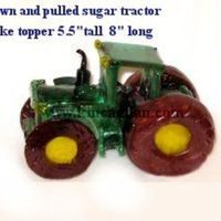 Sugar Tractor Another blown and pulled sugar example. I printed off a photo of a tractor then used it as a template and made the sugar measuring as I...