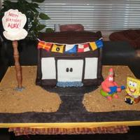 Krusty Krab! my son wanted the Krusty Krab for his Birthday, this is my best attempt.... lol