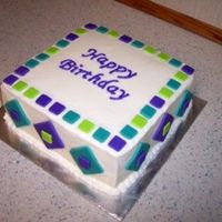 "Sonyabirthday.jpg This was a cake I made for my best friend's birthday... She's not a ""girly-girl"" at all and requested something not too..."