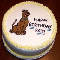 Scooby.jpg Scooby-Doo birthday cake. It was something I did really fast and needed to be simple. Scooby is an FBCT and is probably the most detailed...