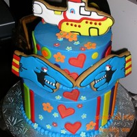 "Beatles ""yellow Submarine"" & ""white Album"" Cakes Two very different cakes being posted here. Got a very fun, colourful order from a chef at a local restaurant here asking for a cake for a..."