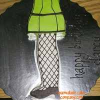 "Leg Lamp Cake  Idea taken from ""A Christmas Story"", for a friend's Dec 24th birthday. (Turns out I don't think he's ever seen the..."
