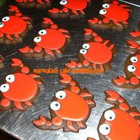 Crabs  I've been dying to make these cookies since I spotted the design by CookieCrazieLady (aka Psneed5 here on CC) on her amazing cookie...