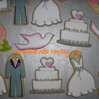 Bridal Shower Assortment  A customer throwing a bridal shower this Sunday asked me to copy her really cute paper plate/napkin designs for an order of cookies. I...
