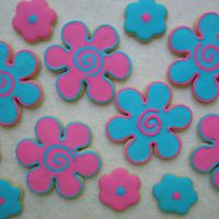 Flower Power Cookies Here are some NFSC with royal icng. They were done for a 9 yr old girl's birthday.