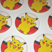 Gabriel's Pikachu Cookies I made these cookies for my friends's son's birthday. Thank goodness for the internet, cause I had no idea what a pikachu was!...