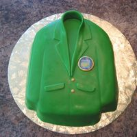 Master's Jacket This is a groom's cake for my cousin who is a PGA member.