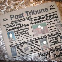 Newspaper Cake For 18Th Birthday I got this idea from another poster here. The birthday boy was also just accepted to college and was planning on buying a lottery ticket...