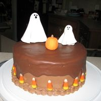 Halloween Ghosts And Pumpkin This is a cake purely inspired by Dee1219. I loved her cake and tried to make it as close to it as possible. Her's of course is better...