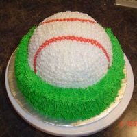Baseball Cake A baseball cake I made for a friend. All buttercream icing.