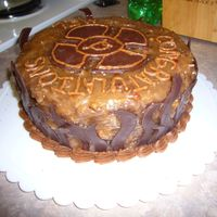 German Chocolate Maltese Cross I made this cake for a firefighter retirement. Did my best decorating with german chocolate!