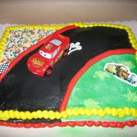 My Cars Cake My very FIRST cake! Hehe, I thought it was the greatest cake ever at first...and now it just makes me giggle :)