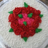Rose Cake One of my first ones. Strawberry inside w/ strawberry filling...yum :)
