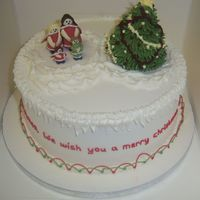 Christmas Cake Christmas cake for mt sister, she asked for me to model her children as if they were carol singing, this is the first time I had done any...