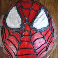 Spiderman Cake 3d egg pan with buttercreme icing.