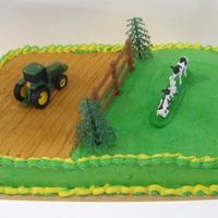 John Deere Cake This is the first cake I've ever sold!!! Yay, me!! John Deere cake devil's food, buttercreme icing.