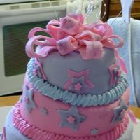 Topsy Turvy Cake My first Topsy Turvy cake and first at using luster dust.The luster dust didn't come out the way I thought it would.All done up with...
